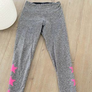 Strut This Star Ankle Pink and Gray Leggings